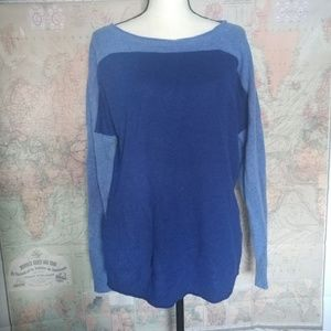Blue block color Vineyard Vines cashmere sweater